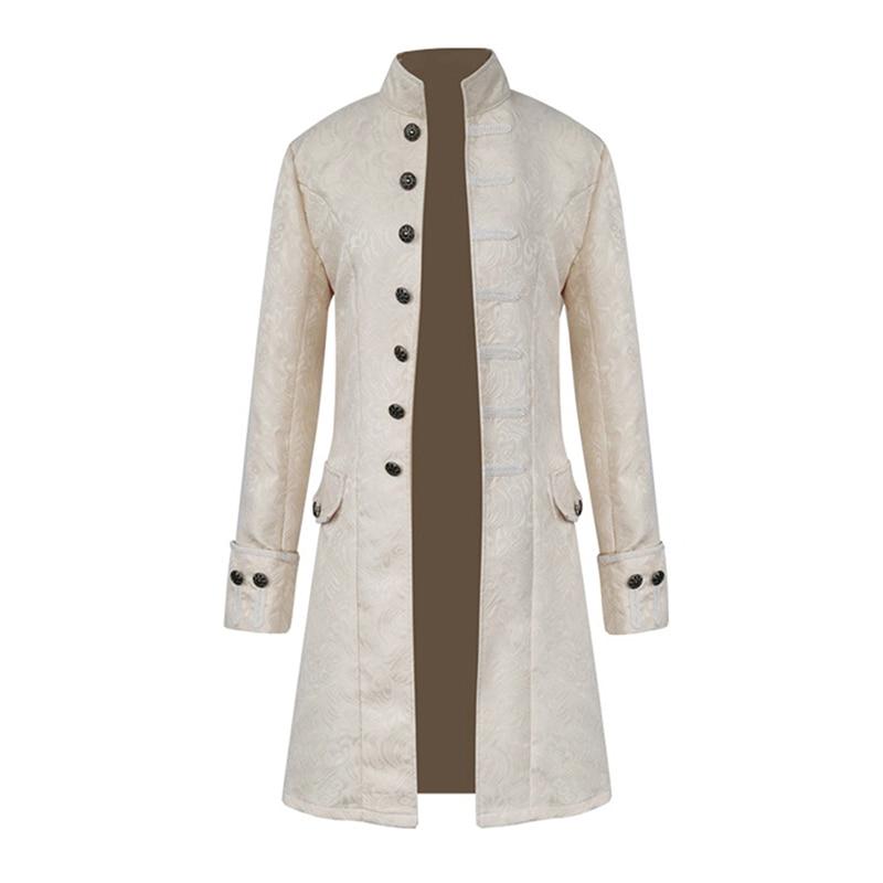 HTB14mr5bo rK1Rjy0Fcq6zEvVXa6 Spring Retro Gothic Steampunk Jacket Men Vintage Floral Outerwear Coat Casual Windbreaker Button Mens Overcoat Plus Size Jacket