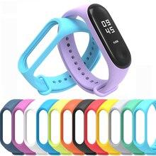 50 sztuk Miband3 zapasowa opaska pasy miękki zegarek na silikonowej bransoletce dla Xiaomi Mi zespół 3 pasek hurtownie DHL darmowa wysyłka