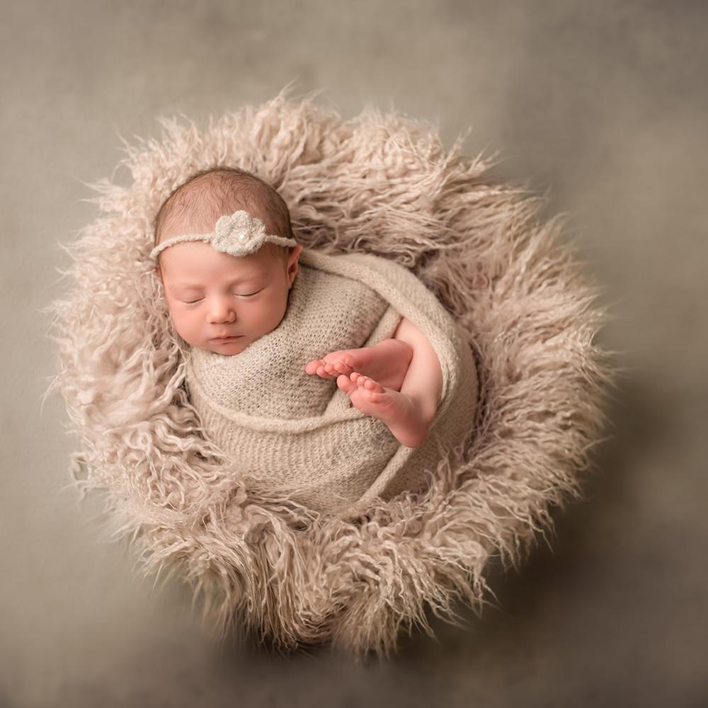 D&J Newborn Photography Props Soft Baby Fur Blankets Faux Fur Background Blankets Cute Infant Kids Fotografia De Baby Fotografia 10 20feet 300 600cm background deep meters blank flax fotografia