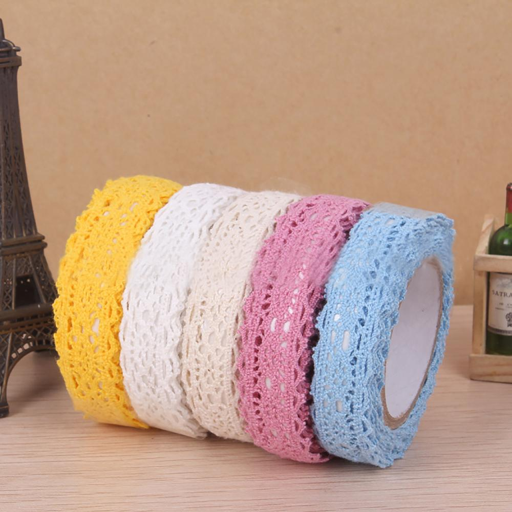 Weeding Cotton Lace Tape Scrapbooking Decorative Sticker Gallery Decoration Stickers Craft Tape Adhesive Lace Tape Cloth Tape