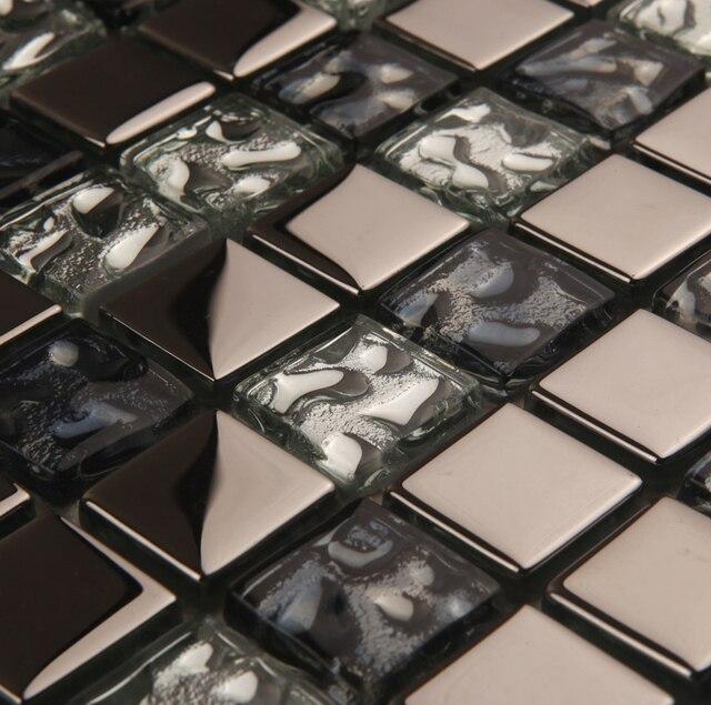 Negro electrochapa EHM1047 para backsplash de la cocina azulejos de ...