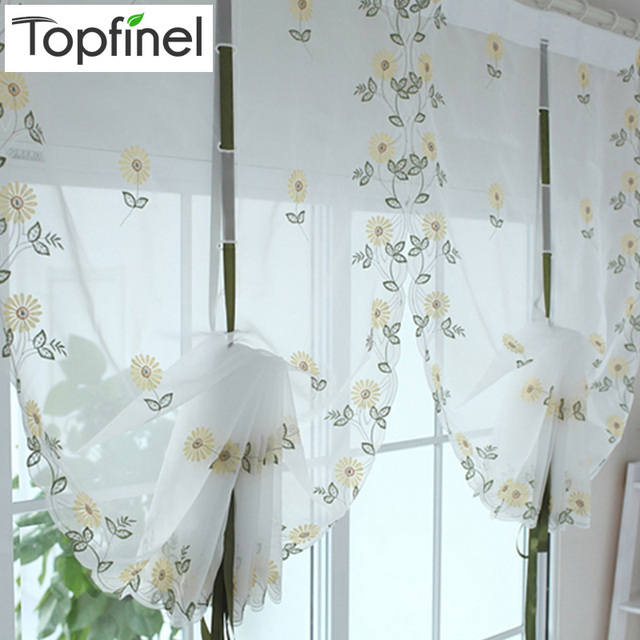 2016 Cafe Kitchen Curtains Voile Window Blind Curtain Owl: Top Finel 2016 Hot Tulle For Window Roman Curtain Blinds Embroidered Voile Sheer Curtains For