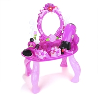 Luxury Simulation Cosmetic Case Baby Kids Makeup Tool Kit Box Children Pretend Play House Toy Chic Dresser Birthday Present