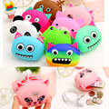 3D Cartoon Animal Candy Colored Girls Coin Bags Women Key Wallets Children Cute Cartoon Mini Coin Purse for Earphone Headphone