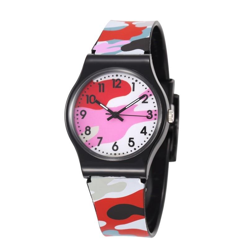 2019 Cool Military Children Watch 30M Waterproof Colorful Camouflage Pattern Wristwatch Quartz Silicone Kids Cartoon Watch