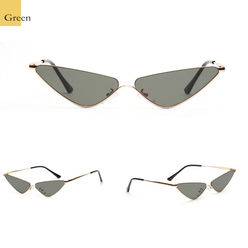 2020 Retro Small Oval Sunglass Triangle Cat Eye European and American Trend Ladies Box Sun Glasses Vintage Sunglasses Retro image