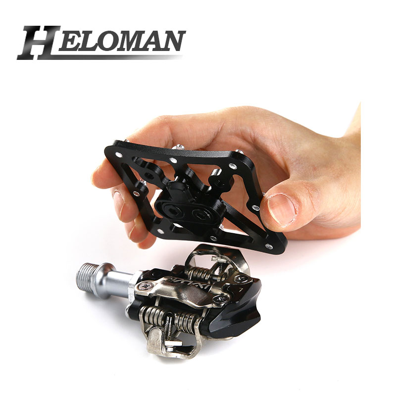 Easily Clip-in 2 Pieces Mountain Bike Pedals Clipless Aluminium Alloy Adapter