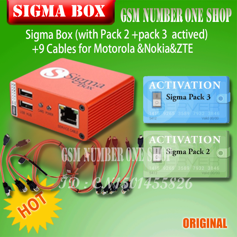 Image 3 - 2019 original Newest Sigma Box with Cable Set + Sigma Pack 1, 2, 3 Activations  for MTK based Motorola Alcatel Huawei ZTE Lenovo-in Phone Adapters & Converters from Cellphones & Telecommunications