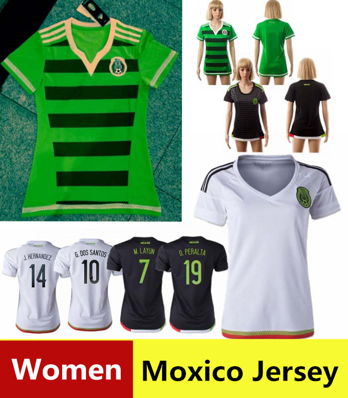 fa75739e131b9 2015 camisas de mexico para mujeres oficial de 2016 CHICHARITO camisa mexico  DOS SANTOS camisetas de mexico t shirt mujer uniformes de futbol en  Camisetas ...