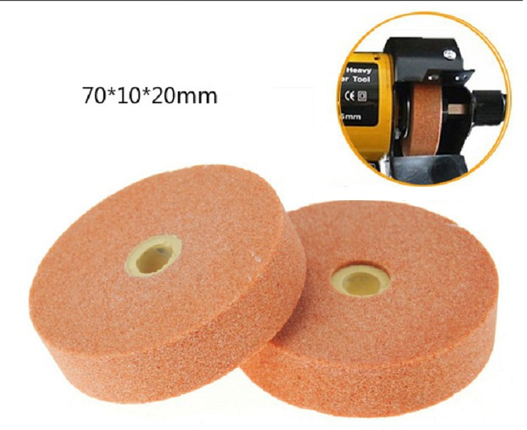 New 120 Grit Grinding Wheel Abrasive Disc Polishing Stone Wheel For Bench Grinders Rotary Tool 75*10*20mm