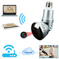 EazzyDV IB-175YM LED Warm Light Bulb Lamp Wireless Night Vison WIFI Camera For Home Security Lamp Camera