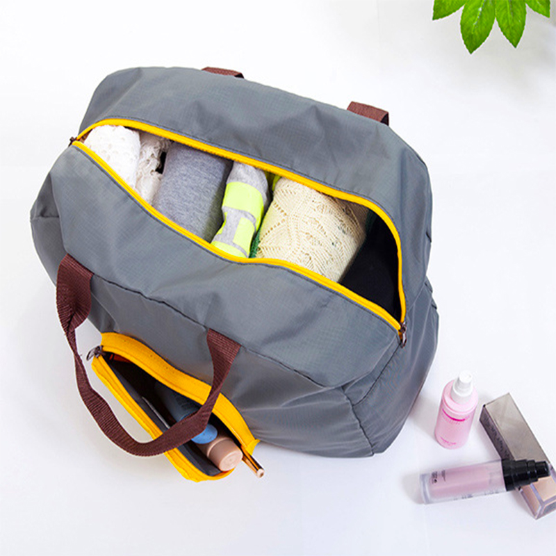 New Polyester Travel Bags Foldable Duffle Bag Large Capacity Weekend Bags Organizer Waterproof Overnight Bag Portable Totes
