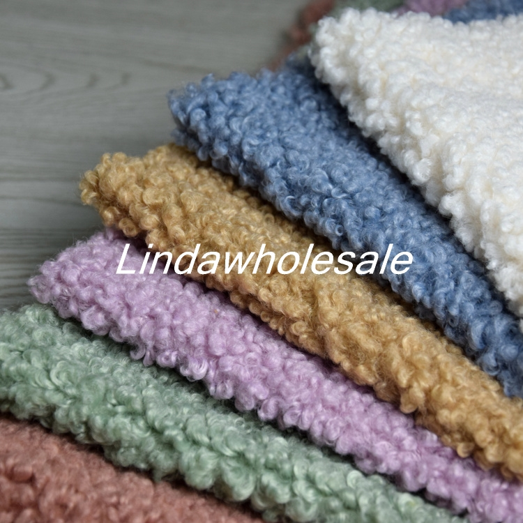 New Thickening Imitation Small Curling Wool Sheep Faux Fur Fabric, Plush Fabric,felt Cloth,160cm*45cm(half Yard)/pcs