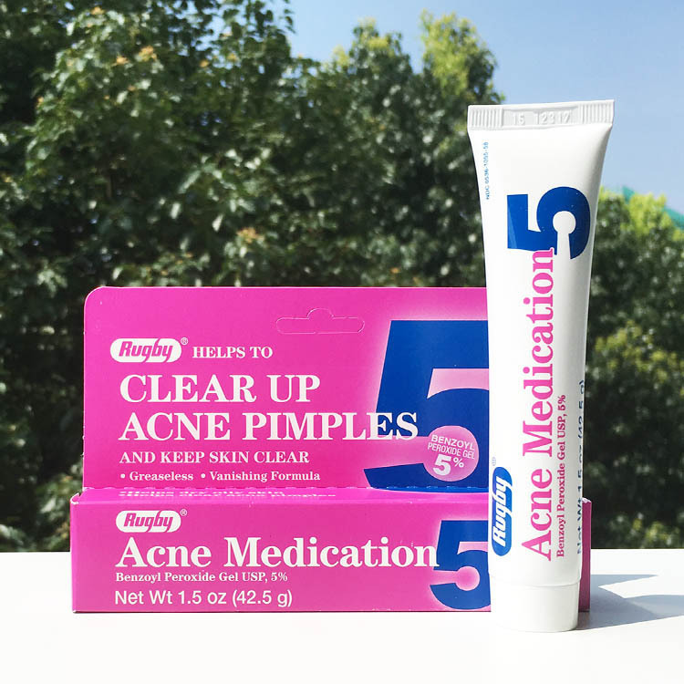 Rugby Acne Medication Helps To Clean Up Acne Pimples And Keep Skin Clear Benzoyl Peroxide Gel 5% Skin Care 42.5g