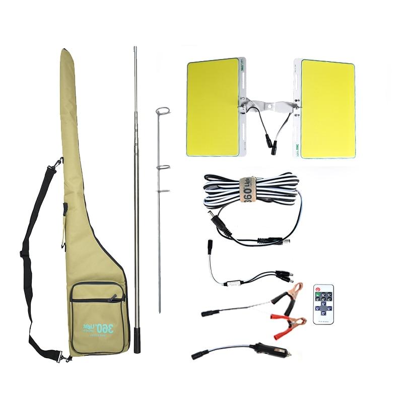 360light 12v 700w 7200lm COB LED Telescopic Fishing Rod Outdoor 540pcs leds camping light hiking lanterns