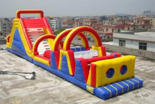 large inflatacle obstacle course sports/ 2017 customized inflatable game for kids