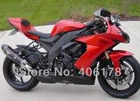 Hot Sales,Ninja ZX 10R 2009 2010 2008 For Kawasaki zx10r Fairing Ninja ZX10R 08 09 10 Red Motorcycle Fairing (Injection molding)