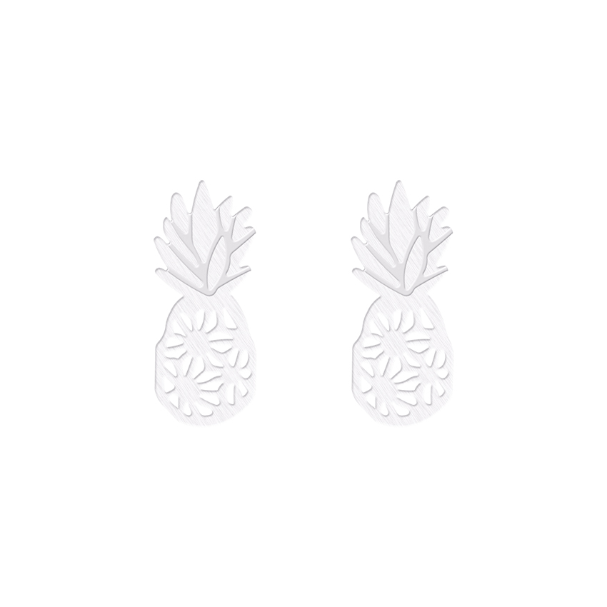 Trendy Hollow Pineapple Earrings Fashion Earrings Fruit Stud Earrings Pineapple Party Gifts Oorbellen Summer Jewelry Wholesale