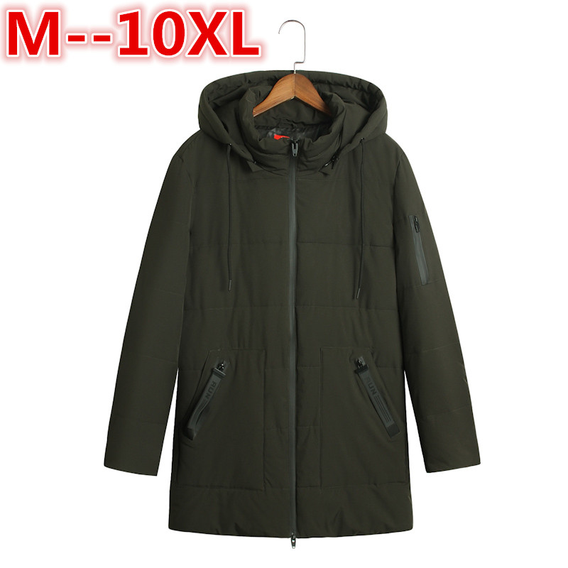 Plus size 10XL 8XL 6XL New Arrival Winter Jacket Men Warm Cotton Padded Coat Mens Casual Hooded Jackets Handsome Thicking Parka new arrival winter jacket men warm cotton padded coat mens casual hooded jackets handsome thicking parka plus size slim coats
