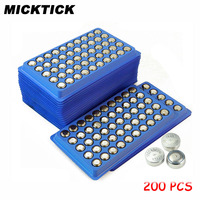 200Pcs AG13 357A A76 303 LR44 SR44SW SP76 L1154 RW82 RW42 High Volume Button Cell Battery