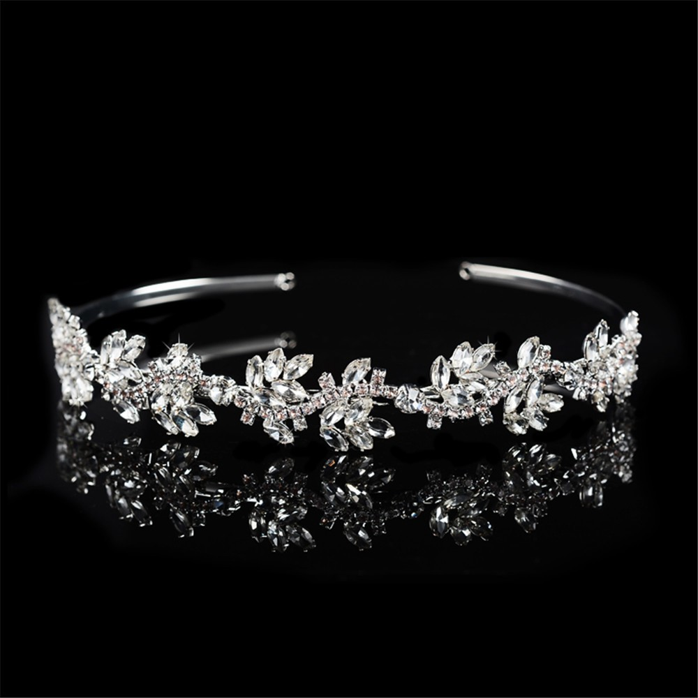 925 sterling silver luxury shine AAA CZ diamond tiara for women party wedding hair acessorios bridesmaid crown 585 gold plated crystal jewelry HF046 (1)