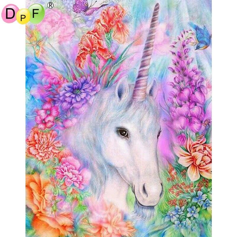 Flowers Unicorn Diamond Embroidery Kits Diy 5d Diamond