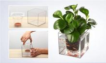 Free shipping,15*15cm,2set/lot.wholesale,big Creative fish flowerpot automatic lazy pots desktop plants potted fish tank water