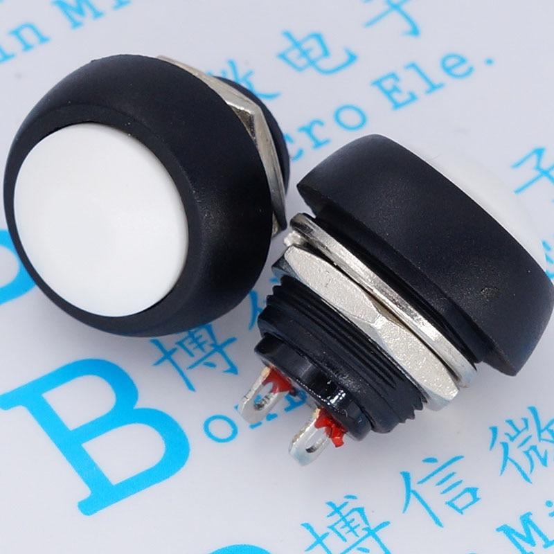 PBS blanc-33 b 12mm, pas de verrouillage interrupteur à petit bouton interrupteur étanche depuis la réinitialisation