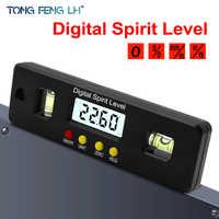 150mm Digital Protractor Inclinometer Level Box Waterproof Angle Finder Measure Bevel Box Goniometer Magnet Gauge Ruler