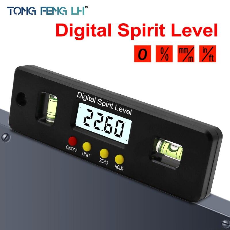 150mm transportador Digital nivel del inclinómetro Caja impermeable ángulo de medida bisel caja goniómetro imán de regla