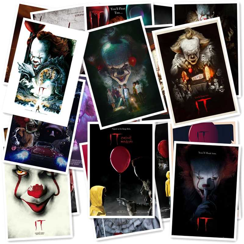 Stephen King's It 20/pcs PVC Series Sticker Home Decor Fridge Styling Wall Travel Suitcase Graffiti Styling Stickers