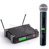 Wireless Microphone System Single Recording Studio Dynamic Handheld Mic Karaoke Home KTV Party Mics SLX24 BETA58A SM 58