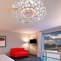KEDODE Creative 3D removable ceiling decorative cloud mirror stickers wall stickers Long lasting paste decorative stickers