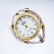 CUSSI Brand Gold Women's Bracelet Watches Fashion Casual Lady's Dress Watches Quartz Wristwatches reloj mujer Wholesales 5pcs