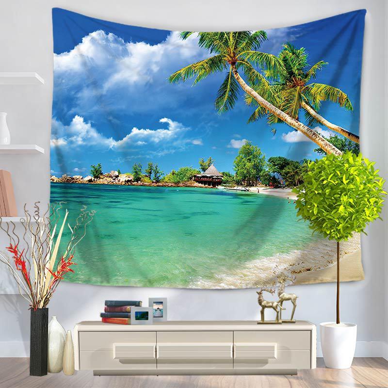 هاواي عرض البحر نسيج الجدار شنقا 3d hd - منسوجات منزلية