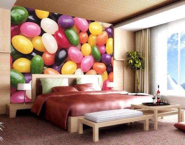 Living Room 3d Wallpaper aliexpress : buy custom 3d photo mordern fancy rainbow sugar