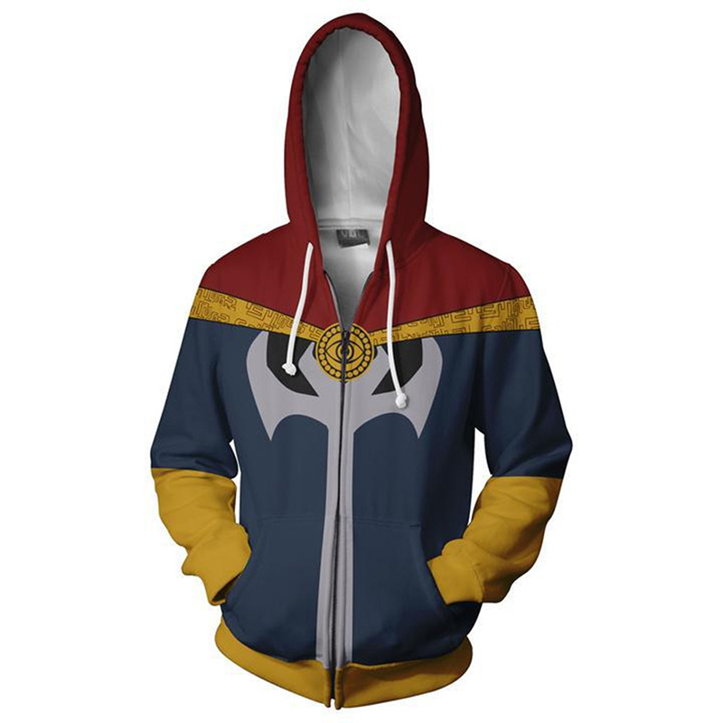 Movie Avengers Doctor Strange Cosplay Costumes Hooded Zipper Hoodies Men Women Boys Clothing Sweatshirt Thin Streetwear Coat