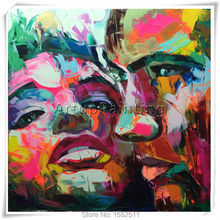 Palette knife painting portrait Francoise Nielly Hand painted Palette knife Face Oil painting Impasto figure on canvas Pop art 4