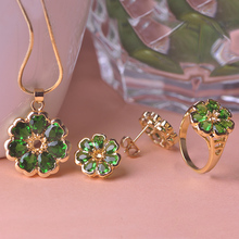 2015 New Fashion Rhinestone Wedding Jewelry Sets Necklace collier sautoir long Environmental jewelry, long-term color retention