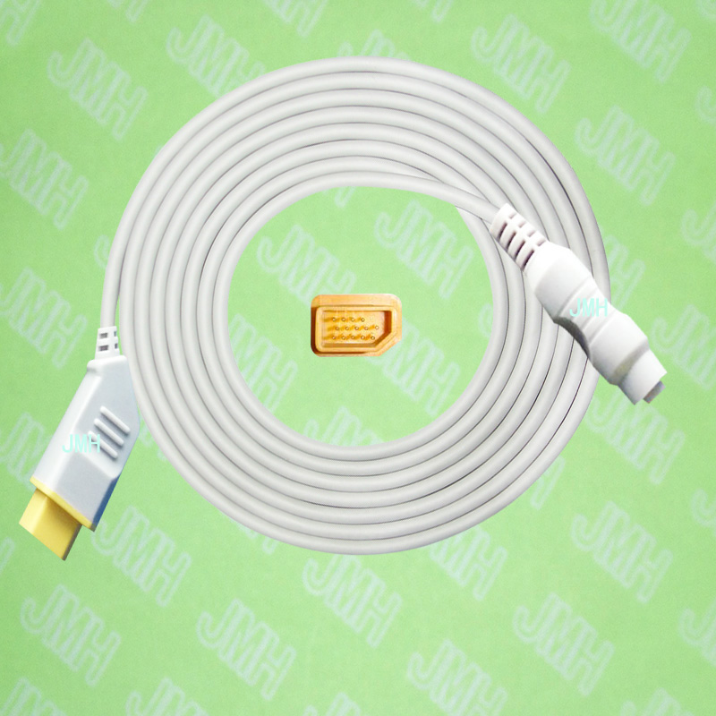 Compatible with Nihon Kohden BSM3200 /4100/5100/9510/9800/1500 the Philips(HP) IBP transducer Adapter cable,14pin to 4pin. free shipping compatible for drager 8060 to abbott transducer ibp adapter cable red 10pin ibp cable tpu patient monitor cable