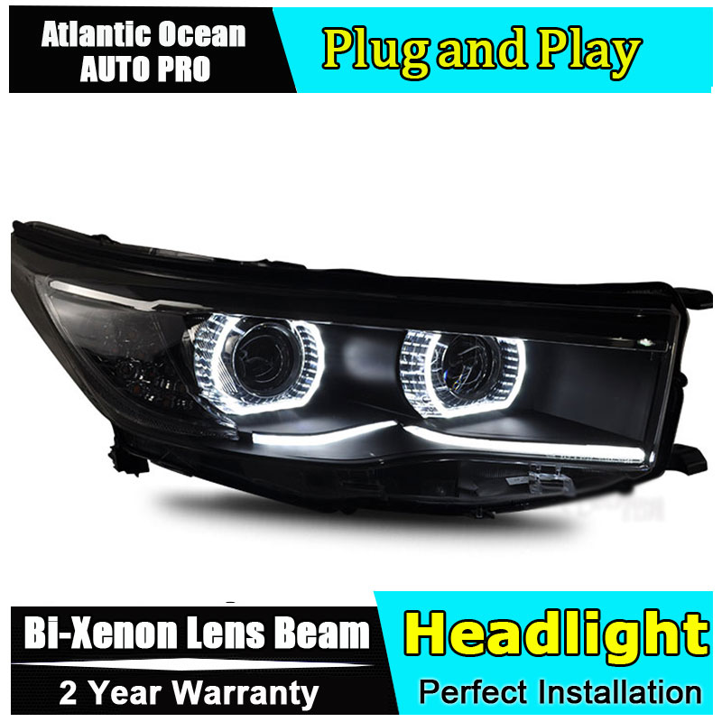 AUTO PRO car styling Headlights for Toyota Highlander 2014 2015 New LED Headlight Turn Signal DRL HID KIT Bi-Xenon Lens Low Beam point break pq 4c wd high quality elastic rod cork handle portable rod strong sensitive sea rod fishing gear fast transport