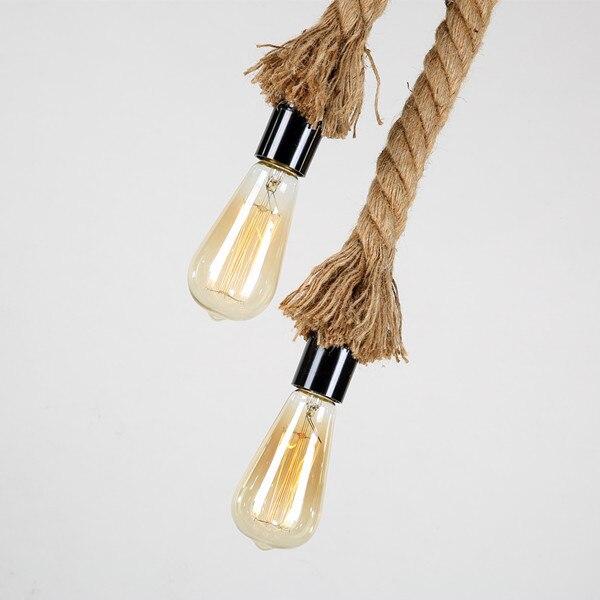 Antigo Pingente Luzes lâmpadas de Longa Corda de cânhamo Industrial Do Vintage Escritório Bar Do Hotel rural Moderna Iluminação LED Mini Lâmpada Do Teto - 5