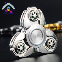 2017 Tri Spinner Fidget Toy Metal EDC Fidgets Hand Spinner For Autism Increase Focus Keep Hands