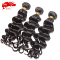 Ali Queen Hair Products Brazilian Hair Weave Bundles Natural wavy/More Wave Virgin Hair 3Pcs Lot, Top Human Hair Weave Bundles
