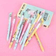 Ручка школьные канцелярские принадлежности для студентов канцелярские принадлежности черный/синий Волшебный Гель Kawaii стираемая ручка