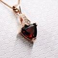 CoLife VENTA CALIENTE de la Joyería linda forma de corazón granate natural colgante de piedras preciosas para las niñas sólido 925 plata collar de granate colgante