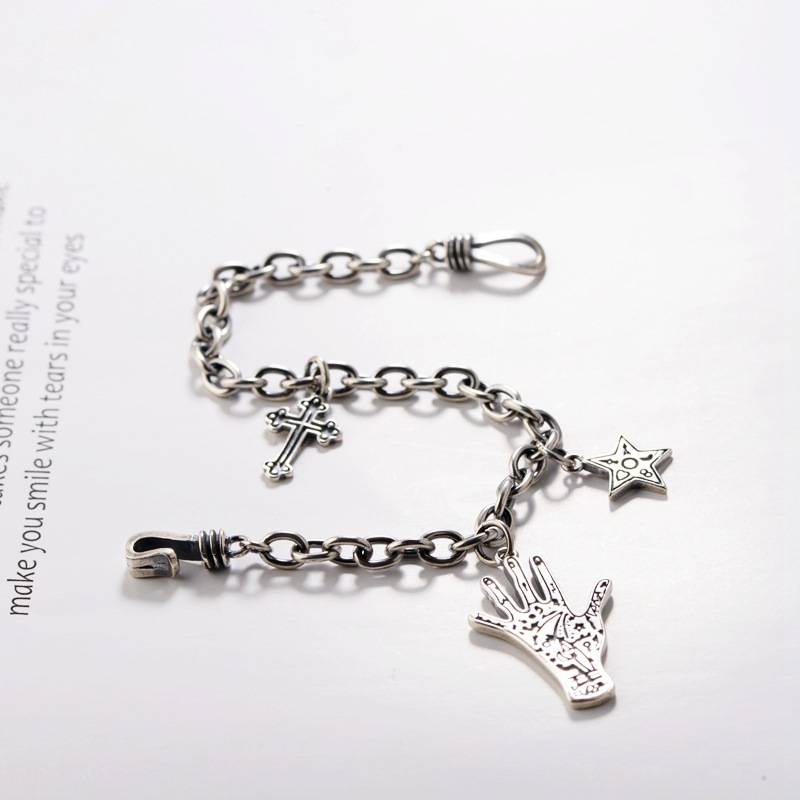 Cheap Fashion Mens Stainless Steel Cross Ring Chain Pendant Necklace CYCA