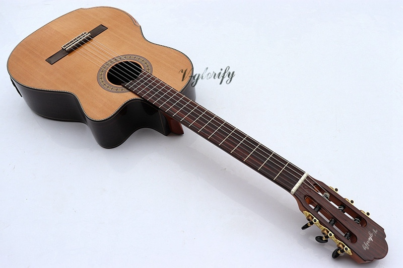 Aspiring 2018 New Arrival High Quality Solid Red Cedar Classic-electric Guitar Famous For Selected Materials, Novel Designs, Delightful Colors And Exquisite Workmanship