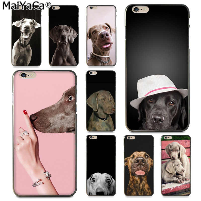 MaiYaCa Weimaraner dog art Luxury High-end สำหรับ iphone 11 pro 8 7 66S Plus X 5S SE XS XR XS MAX Cover