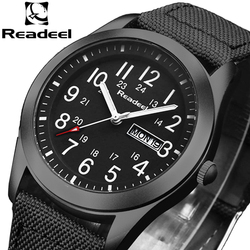 Readeel Brand Fashion Men Sport Watches Men's Quartz Hour Date Clock Man Military Army Waterproof Wrist watch kol saat erkekle